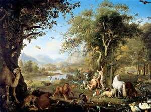Eva în Gradina Eden