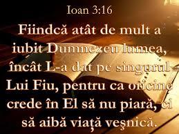 Ioan 3.16