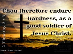 Thou therefore endure hardness, as a good soldier of Jesus Christ.